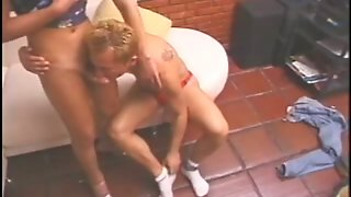 Amazing Blonde Tranny Loves The Way Her New Male Buddy Sucks Her Dick