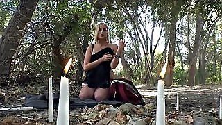 Goth Blonde Does Ritual
