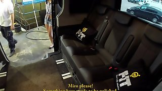 Fucked In Traffic - Brunette Slut Lady Dee Getting Fucked At A Car Wash