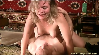 Drunk Slut Grinds Her Pussy On Cock Lustily