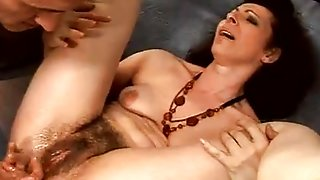 Hairy Granny Anal Squirter