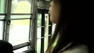 Four Guys And A Girl On The Bus