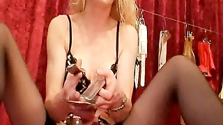 Huge Speculum Stretches Her Giant Pussy Open