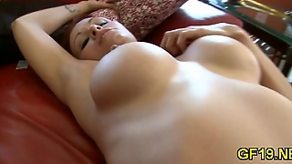 Pink Teen Pussy Meets A Cock