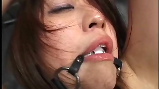 Cute Japanese Girl Oiled Up And Lightly Abused