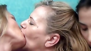 Granny, Milf And Teen In Threesome