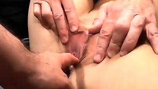 Cute German Teen In Extreme Gangbang Orgy