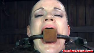 Shaved Hair Bdsm Sub Pussy Toyed With