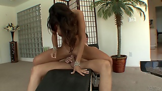 Kristina Cross Rides Mark Wood's Cock And Lets Him Lick Her Ass