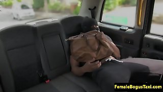 Busty English Cabbie Doggystyled By Blackcock
