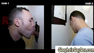 Straighty Cums For Gay Bj At Gloryhole