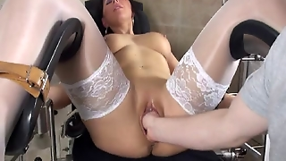 Hot Milf Slut In A Medical Chair