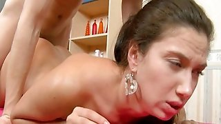 Young Shaved Pussy Creampie