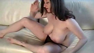 Busty Kitty Smashing Her Tits And Fingering