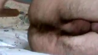 Amateur, Hairy Ass, Solo, Close Up, Anal Fingering, Dildo, Gay, Teen, Penetration, Insertion