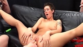 Naughty Harlot Gets Cocks And Dildos