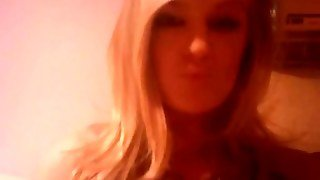 Young Blonde Girl On Webcam