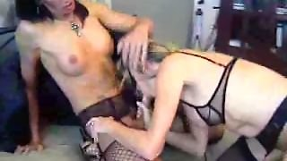 Cougar Milf With Shemale