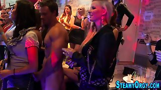 Clothed Party Teen Blows