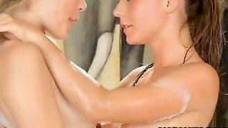 Lesbians Fingering And Licking Puffy Nipples