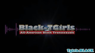 Black American Tgirl Firsttime Solo On Camera