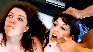 Two Horny Teen Chicks Receive Two Facials