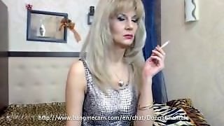 Sexy Granny Chantal Smoking