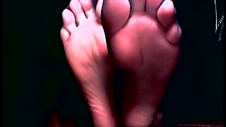 Sexy Feet Tease With Sheer Toes And Wrinkled Soles