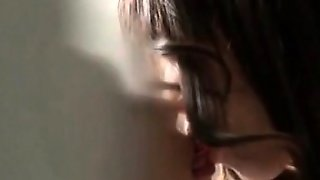 Japanese Office Cutie Gets Pussy Licked Under The Work Desk