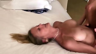 Blonde Milf Creamed By Her Young Lover