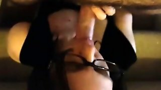 Facial In Glasses With Blow Job