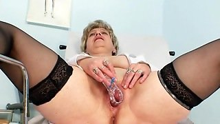 Warm Solo With A Mature Nurse