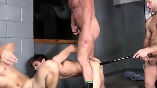 Groupsex Hunk Jizzed On By The Popo