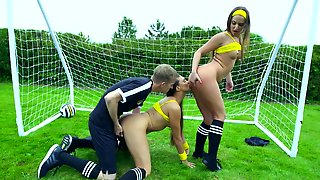 Threesome Sex On The Field With Amirah Adara And Mea Melone