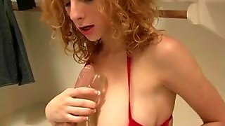 Hawt Redhead Playing In The Closet