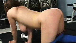 Violet Worksout Her Really Big Boobs