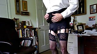 Perverted Gay Amateur Dressed As A Whore Gets Naked