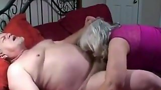 Old Couple Makes Oral Games
