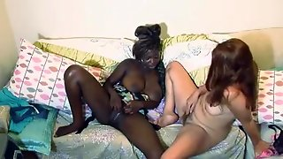 Interracial Girls Explore Lesbian Side, Masturbate Together