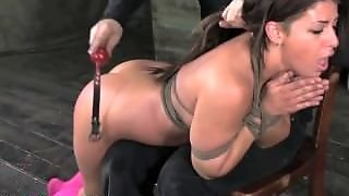 Mia Gold Spanked In Tight Bondage