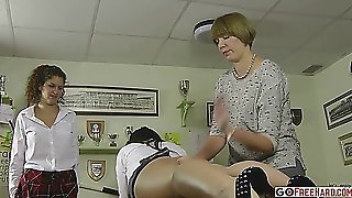 Spanked For Spanking Her Classmate ;