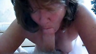 Giving Her Seducer A Blow Job For Xmas
