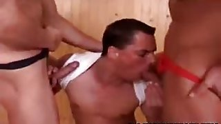 Hot Stud Can Handle Two Hard Dicks