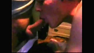 2 Men Shoot Their Hot Cum In His Mouth