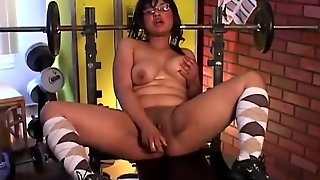 Cute Chubby Amateur Fucks Her Pussy And Asshole