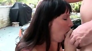 Tattooed Milf Gets Twat Licked On The Car Top