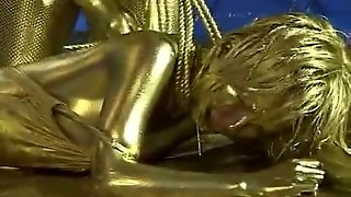 Queen Tortures Gold Painted Slave
