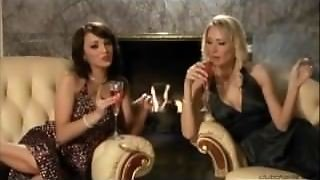 Charlie Laine And Sabrina Rose Smoking Cigars