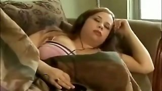 Bbw Exgirlfriend Sleeping On The Couch