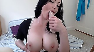 Large, Orgasm, Solo, Self, Masturbation, Maid, Online, Big, Dildo, Jugs, Butt